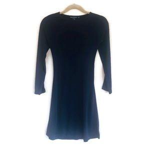 Club Monaco Dress Size XS Stretchy Navy Blue